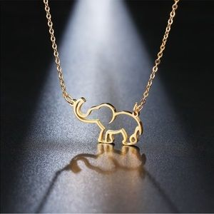 Jewelry - 🐘Dainty Elephant Necklaces! Silver & Gold Avail.